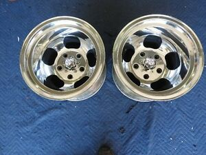 Rare Vintage Pair Polished 15x11 Real Shelby Mags 5 On 5 1 2 Ford Pickup ratrod