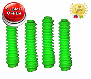 Set 4 Neon Green Shock Boot Covers For Rough Country Zone Procomp Lift Kit Boots