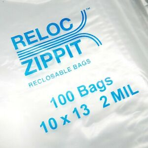 500 Ziplock Bags Large 10 X 13 Clear 2 Mil Zip Reclosable Zippit Reloc 10x13