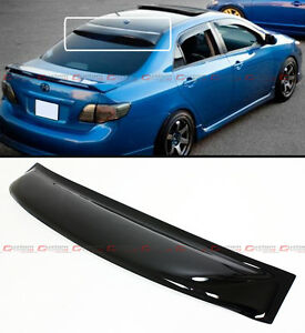 2008 2013 Toyota Corolla Jdm Smoke Tinted Rear Roof Aero Rain Sun Window Visor
