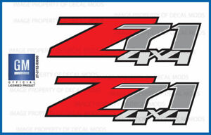 Set Of 2 2012 Chevrolet Silverado Z71 4x4 Decals F 1500 Gm Hd Stickers Chevy