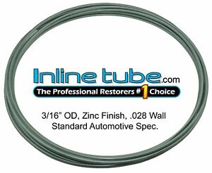 Oe Zinc Automotive Steel Brake Line Tubing Kit 3 16 Od Coil Roll Usa Inline Tube