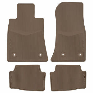Oem Front Rear All Weather Rubber Floor Mats Cashmere 13 18 Cadillac 23255874
