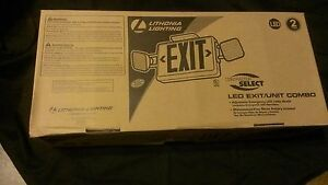 Lithonia Lighting Ecr Led M6 led Exit unit Combo