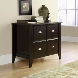 Filing Cabinet Office File Storage Lateral In Jamocha Wood By Sauder