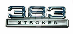 383 Stroker 6 3l Engine Emblem Badge Logo With Blue Chrome Trim 4 Long