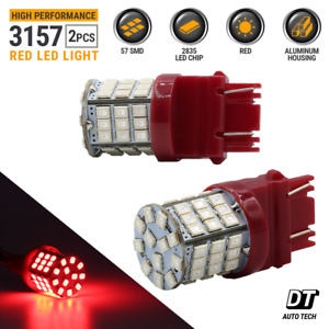 3157 3156 Led Brake Light Bulbs Red Tail Rear Stop High Power Tail Lamp Pair 40w
