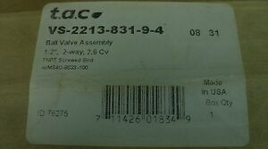 Tac Schneider 1 2 2 way Electric Ball Valve Actuator Vs 2213 831 9 4 new
