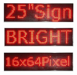 25 x 6 5 Led Sign Programmable Scrolling Window Message Display Red Color P10