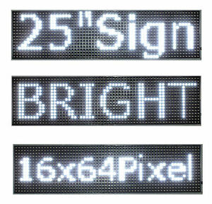 25 x 6 5 Led Sign Programmable Scrolling Window Message Display White Color P10