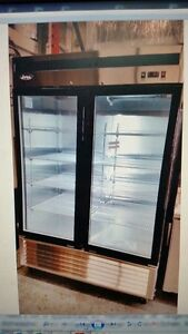Atosa Mcf8703 Bottom Mount 2 Glass Door Freezer Ss Inside Out Dinged Unit