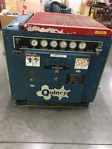 Quincy Belt Drive Rotary Screw Air Compressor 50 Hp Model Qma 50