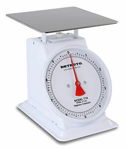 Detecto Top Loader 10 Lb X 1 Oz Enamel Finish 8 Fixed Dial T10 Loading Scale New