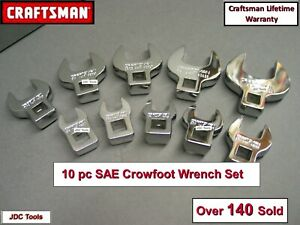 Craftsman 3 8 Drive Standard Sae Crowfoot Wrench Set 10 Pc 3 8 1