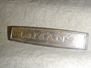 Vintage Pontiac Lemans Oem Ornament Emblem Kbc4313669826105 Nameplate Badge