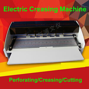 110 220v 18 5inch 470mm Electric Creaser Scorer Perforator Cutter 3 Function