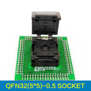 Qfn32 Mlf32 Ic Test Adapter Pitch 0 5mm Chip Size 5 5 Flash Socket Programmer