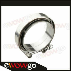 3 5 Inch V Band Flange Clamp Kit For Turbo Exhaust Downpipes Mild Steel
