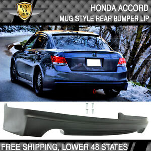 Fits 08 12 Honda Accord Mugen Style Rear Bumper Lip Unpainted Pu