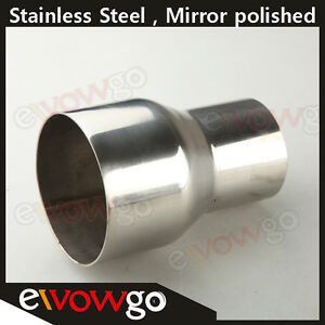2 75 To 3 Inch Weldable Turbo Exhaust Stainless Steel Reducer Adapter Pipe