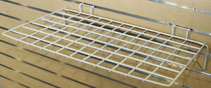 Slatwall Gridwall Slatgrid Multifit Flat Display Shelf 24x14 White Lot Of 12 New