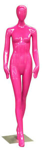 Female Full Body Mannequin Egghead Women Dummy Fashion Clothes Display Pink New