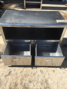 Stainless Steel Cabinet Table Drawers Shelf Kitchen Commercial Restaurant Store