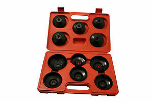 11 Pc Cap type Oil Filter Wrench Kit For Gm Ford Toyota Mazda Bmw Mitsubishi Etc