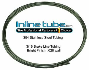 Stainless Steel Brake Line Tubing Kit 3 16 Od 20 Foot Coil Roll An 45 Flare Usa
