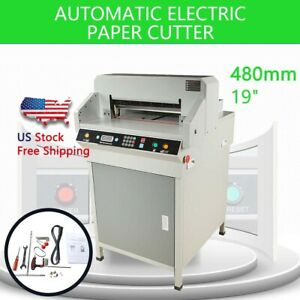 Heavy Duty 480mm 19 Automatic Paper Electric Cutter Cutting Machine