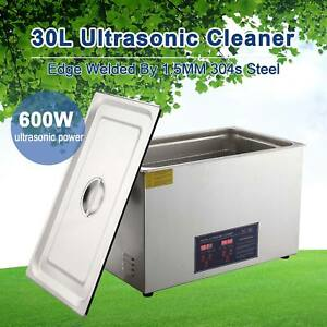 Ultrasonic Cleaner 30l Commercial Stainless Steel Heated With Digital Timer