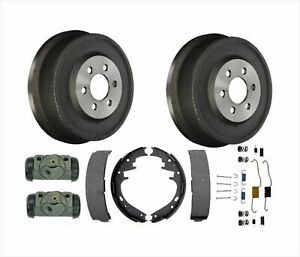 For 99 2002 Durango Brake Drums Brake Shoes Wheel Cylinders 100 All New 6pc Kit