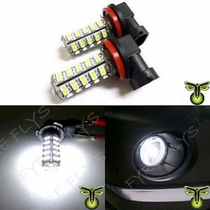 2x 6000k Hid Xenon White H8 H11 68 Smd Led Bulbs Driving Fog Lights Lamps Drl