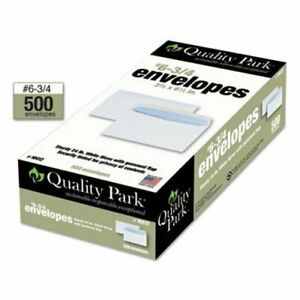 Quality Park Security Tinted Business Envelope White 500 box qua10412