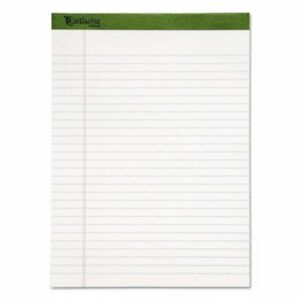Earthwise Ampad 100 Recycled Perforated Pads White 12 pk top20172
