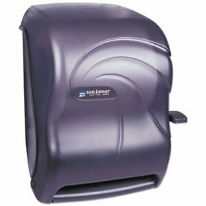 San Jamar Lever Roll Towel Dispenser Plastic Black sjmt1190tbk
