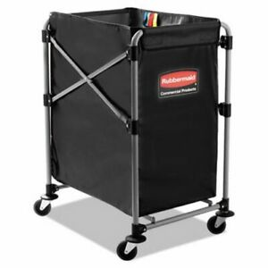 Rubbermaid 1881749 Collapsible Steel X cart Black silver rcp1881749