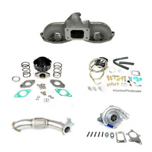 Top Mount Manifold Turbo Charger Set Up Kit Fits 240sx S13 S14 Sr20 T3t4 Gt35