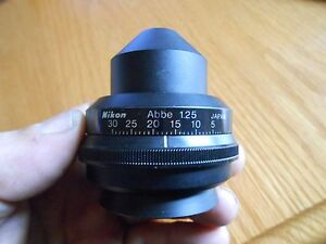 Nikon Microscope Condenser Abbe 1 25 For Labophot Excellent Working Condition