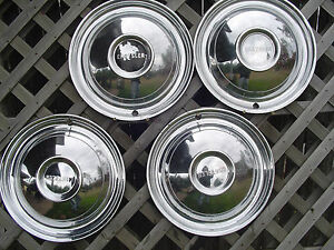 1950 50 Chrysler Windsor Sarstoga Hubcaps Wheel Covers Antique Vintage Classic