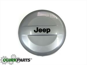 07 18 Jeep Wrangler Billet Silver Metallic Hard Tire Cover 255 75r17 Tires Mopar