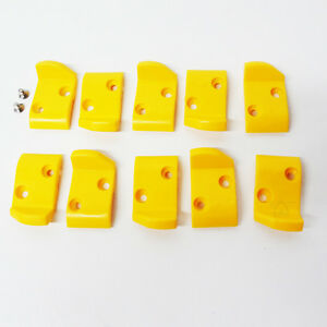 Corghi Tire Changer Leverless Head Inserts Plastic Protectors Yellow Guard 10pk