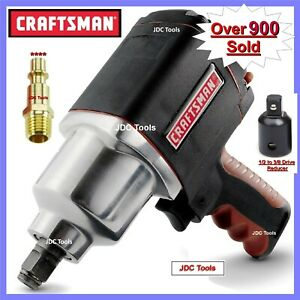 Craftsman 1 2 Drive Air Impact Wrench W 3 8 Adapter 2 Tools In 1