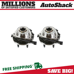 Front Wheel Hub Bearing Pair Set For 02 09 Gm Trailblazer Envoy W Abs 6 Lug