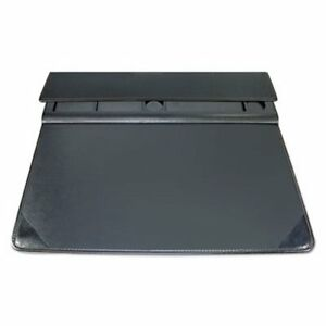 Artistic Executive Desk Pad Organizer With Storage 22 X 17 Black aop516631s