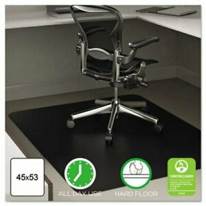 Deflect o Anytime Use Chair Mat For Hard Floor 45 X 53 Black defcm21242blk