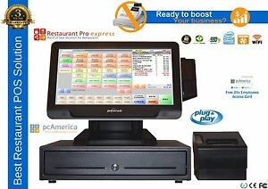 Restaurant All in one Point Of Sale Complete System With Pc America Rpe new