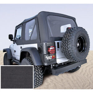 Soft Top With Door Skins Black Clear Windows For Jeep Wrangler Tj 1997 2002