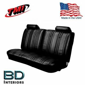 1969 Chevy El Camino Front Bench Seat Upholstery Black Made In Usa By Tmi
