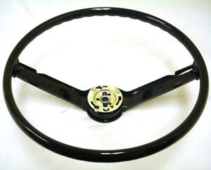 New 1968 1969 Ford Mustang 2 Spoke Black Steering Wheel 68 69
